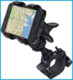 #9: Bike Bicycle Motorcycle Mobile Cell Phone Holder Mount Bracket For Iphones, Ipods, Samsung Galaxy Phones, LG, Nokia, Htc, Blackberry Smartphones And Other Mobile Phones