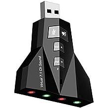 A menudo aircraft tarjeta de sonido externa 7.1USB 2.0tarjeta de sonido USB Sound Card