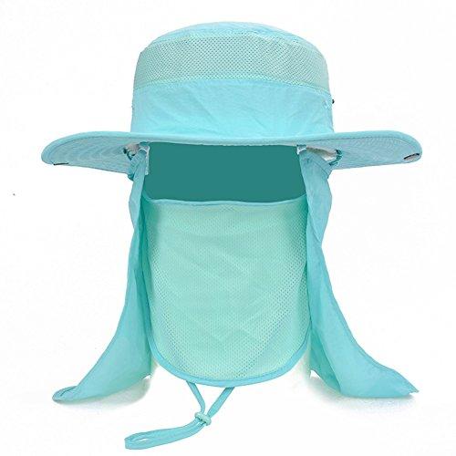 WYYY Chapeaux Hommes Visière Polyester Respirant Protection Contre Le Soleil Protection UV De Plein Air 52-60cm (Couleur : Bleu)