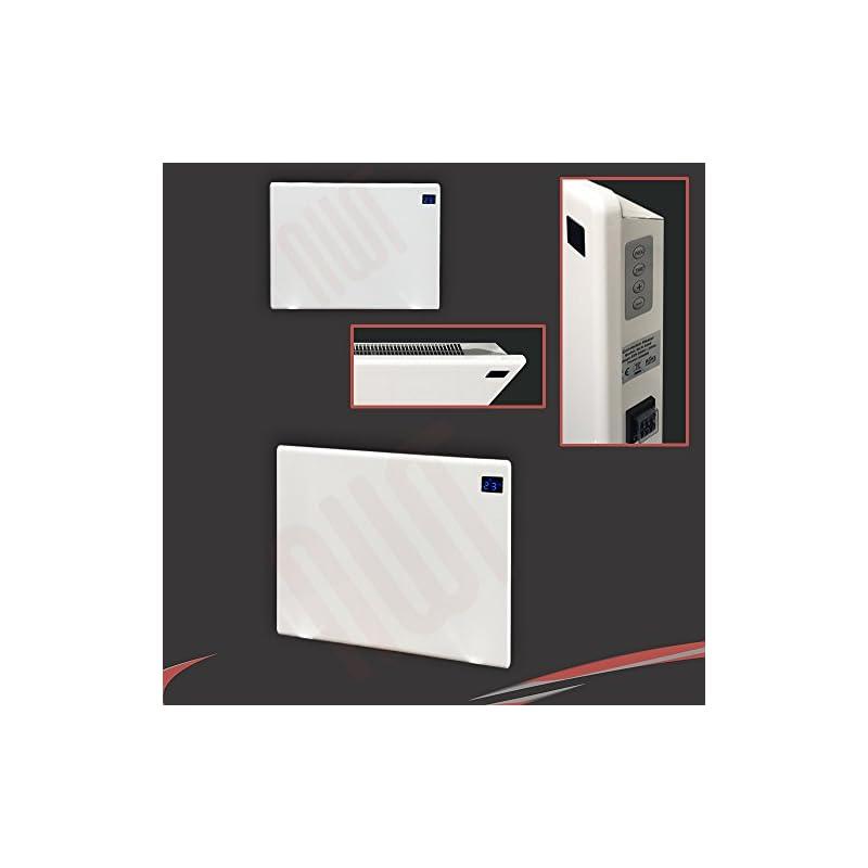 "1000w""Nova Live R"" White Electric Horizontal Panel Heater – 24hr/7 Day Programming, 1KW Convector Heater – 500mm(w) x 400mm(h)"