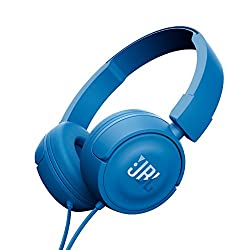 JBL T450 On-Ear Headphones with Mic (Blue)