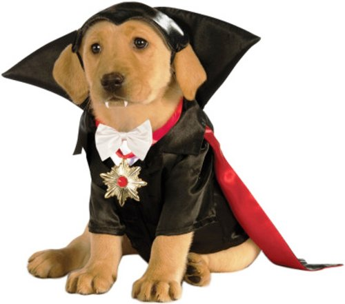 Kostüm Dracula Für Hunde - Rubies Costume Classic Movie Monsters Collection Haustierkostüm, S, schwarz/red