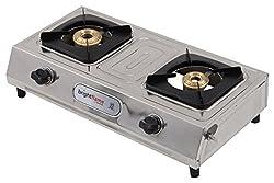 Brightflame Stainless Steel 2 Burner Cook Top Gas Stove, Sliver, BF2BSSVPNGN
