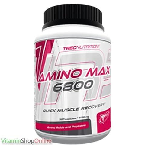 AMINO MAX 6800 320caps MUSCLE RECOVERY AMINO ACID GLUTAMINE TAURINE TREC FREE P&P
