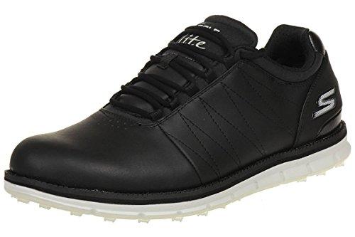 2016 Skechers GO GOLF Elite Leather Mens Golf Shoes-Waterproof Black/White 8UK