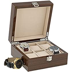 Lacquered Walnut Watch Collectors Box for 6 Wrist Watches by Aevitas