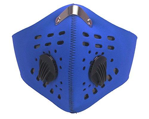 DODOING Staubmasken Feinstaubmaske Atemschutzmaske mit Ventil PM2.5, Motorrad Fahrrad Outdoor Sport Training Face Maske mit Filter Anti Verschmutzung