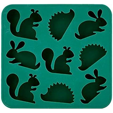 Kikkerland Vassoio di Ghiaccio a Forma di Animali,