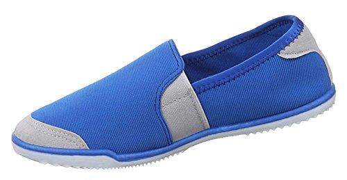 ... Damen Schuhe Halbschuhe Slipper Modell Nr.1Blau ...