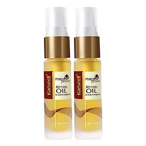 Karseell Voyage Ensemble cadeau d'argan marocain Huile pour cheveux Thérapie Après-shampoing sans rinçage Crème hydratante peaux 15 ml 0,51 FL. oz Bundle