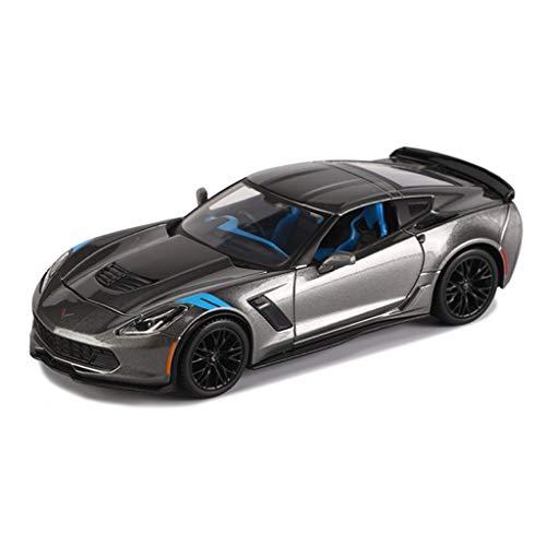 IVNGRI-Auto Model 1:24 Scale Corvette Roadster Auto-Modelldruckguss - Simulation Legierung Automodell Spielzeugdekoration - Farbe Silbergrau - 18,7x7,8x4,5 cm (Auto Model Kit Nissan)