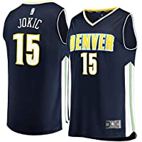 KQOCNBA NBA Denver Nuggets Nikola-Jokic 15 Fan Men Jersey (Navy, XXL)
