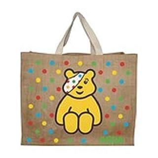 Children In Need Pudsey Bear Jute Shopping Bag BNWT 2010 Asda Pudsey Jute Bag