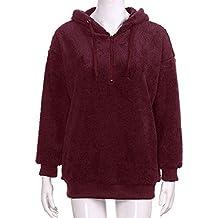 Logobeing Chaqueta Suéter Abrigo Jersey Mujer Invierno Talla Grande Hoodie Sudadera con Capucha Mujer Caliente y