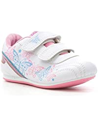 f0032a71551 Mercury Girls White Butterfly Touch Fasten Trainer