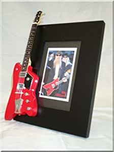 ZZ Top Guitare miniature Cadre photo Billy Gibbons