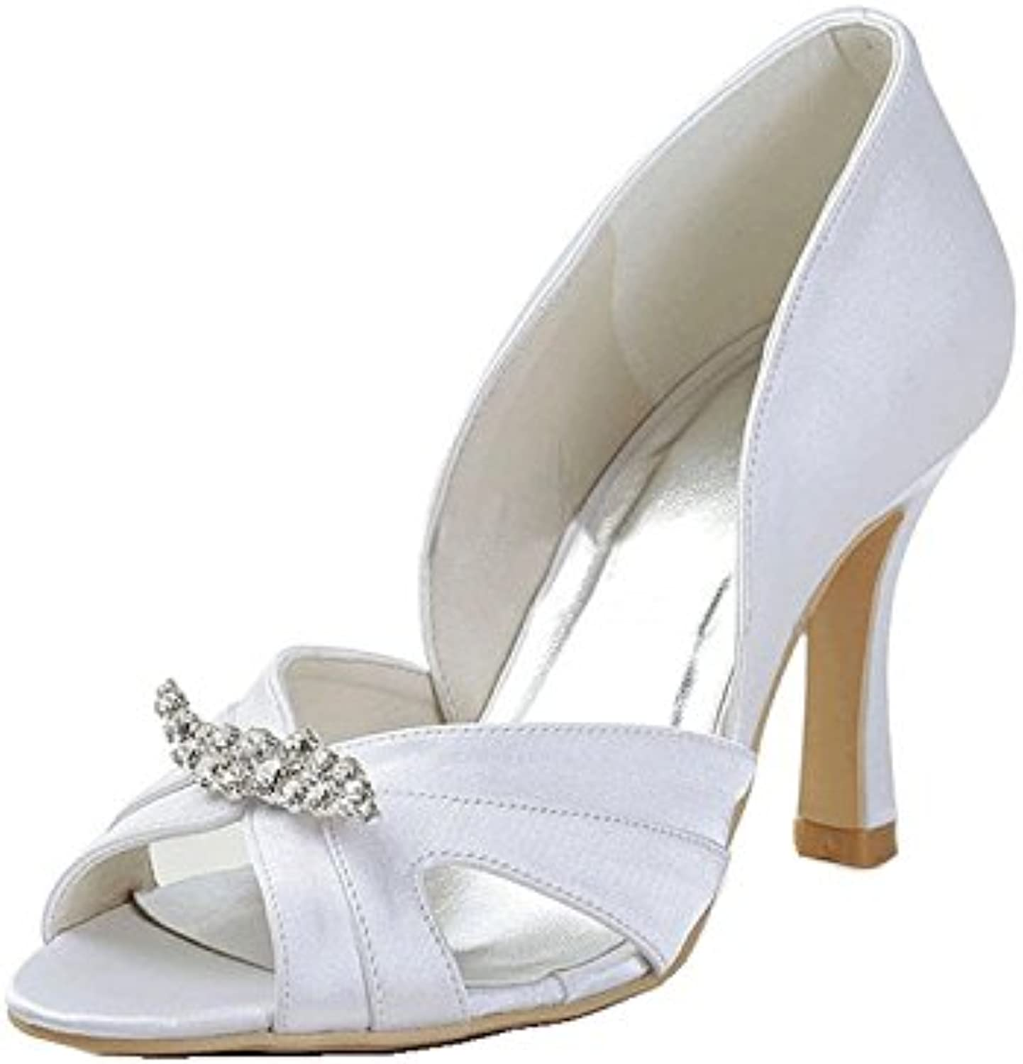 14690880bb19 Kevin Fashion MZ1216 Ladies Cut-out Cut-out Cut-out Satin Bridal Wedding  Formal Party Evening Prom Sandals B01D8T19B8 Parent cc6393