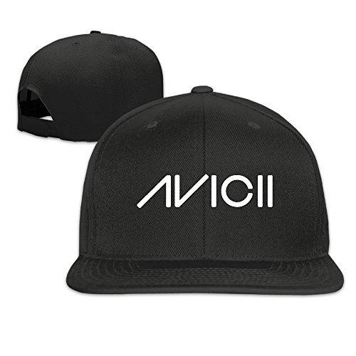 Hittings Avicii Ture Logo Flat Béisbol Caps Hats for Unisex Black