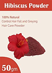 Naturals Organic Hibiscus Petals Powder for Face Packs and Hair Care (50gm)