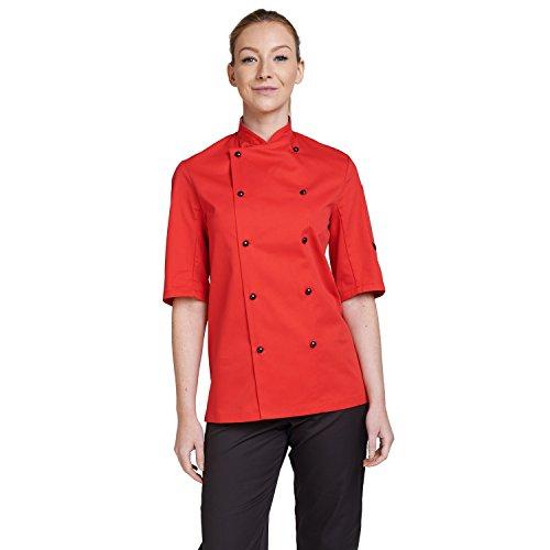 dennys-gants-technicolor-chefs-apparel-veste-de-chef-manches-courtes-pour-homme-avec-bouton-pression