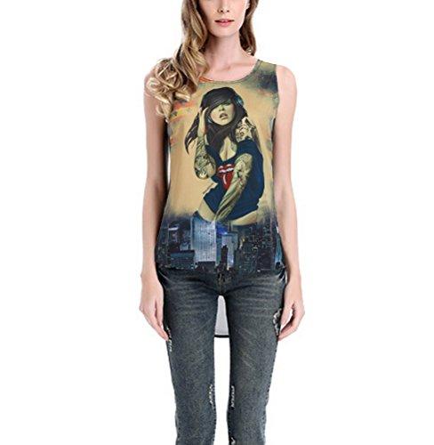 MILEEO Damen Elegantes Oberteil Festliches Longshirt Große Größen Shirts Kurzarm Bluse Stil 3