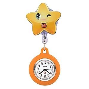 JSDDE Krankenschwester Uhr Pulsuhr Nurse Watch Kitteluhr Silikon Cartoon Taschenuhr Schwesternuhr mit Clip #5