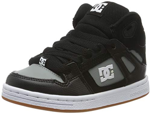 DC Shoes DCSHI Crisis WNT-High-Top Shoes for Boys, Zapatillas de Skateboard para Niños, Black/Grey...
