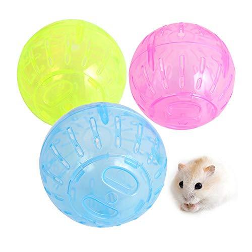 ll,Hamsterball Mäuseball Joggingball,Kleintier-Trainingsball für Hamster, Ratten, Rennmäuse, Chinchilla, Meerschweinchen, Eichhörnchen,Kunststoff,Transparent (zufällig) ()