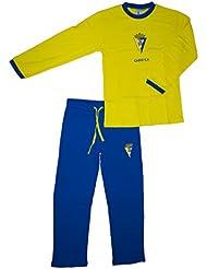 Cádiz CF Pijcad Pijama Larga, Bebé-Niños, Multicolor (Amarillo/Azul), XL