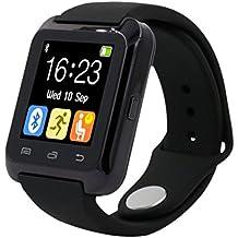 Tongshi Bluetooth inteligente reloj podómetro saludable para el iPhone LG Samsung teléfono (Negro)