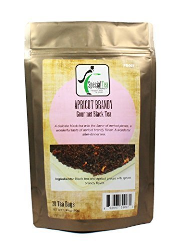 Special Tea Apricot Brandy Black Tea, 20 Wrapped Tea Bags, 1.41 Ounce by Special Tea