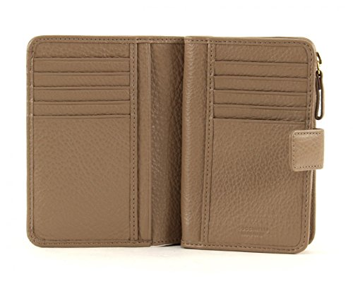 COCCINELLE Metallic Soft S Wallet Nero Taupe (Marron)