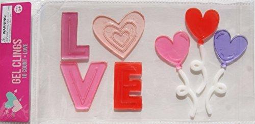 Unbekannt Liebe und Herzen Gel Fenster klammert Sich an-10Stück
