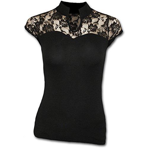 Spiral - High Neck Lace Corset Top (T-Shirt Donna XL)