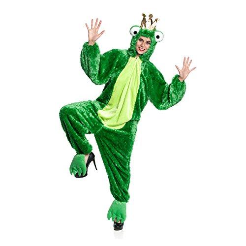 Kostümplanet® Froschkönig-Kostüm Damen Froschkönigin Overall Märchen Damen-Kostüm Karneval Größe 46/48