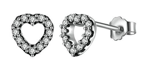 saysure-925-sterling-silver-my-valentine-heart-stud-earrings
