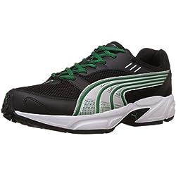 Puma Men's Pluto DP Black-Amazon-Silver Running Shoes - 10UK/India (44.5EU)