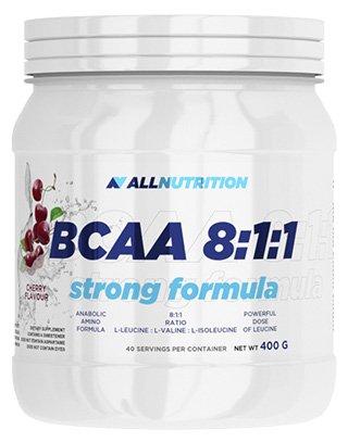ALLNUTRITION Bcaa 8-1-1 Aminos Aminosäure Regeneration Muskelaufbau Bodybuilding 400 g (Black Currant - schwarze Johannesbeere)