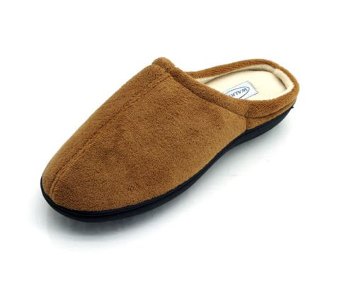 WALKMAXX Comfort Gel-Slipper beige, Größen:M (Dr Comfort Hausschuhe Für Männer)