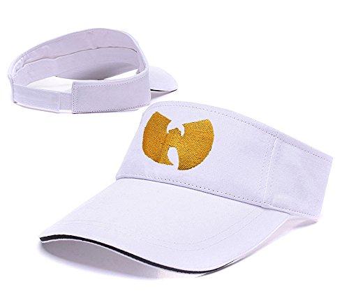 sianda-wu-tang-clan-logo-visier-stickerei-golf-hat-sun-cap-einheitsgrosse-white-visor