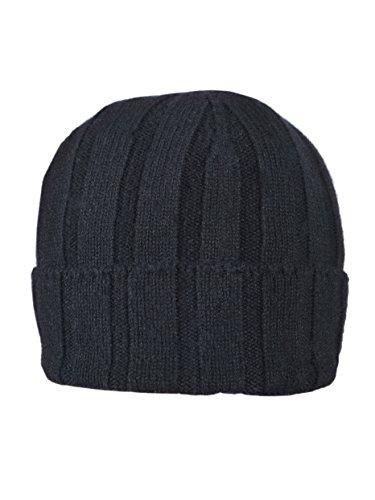 Cellini Cashmere Bonnet en cachemire à large revers Noir