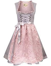 Alte Liebe Trachtenkleid 2tlg. Damen Dirndl mit Spitzenschürze Damen Kleid Gr. 34,36,38,40,42,44,46