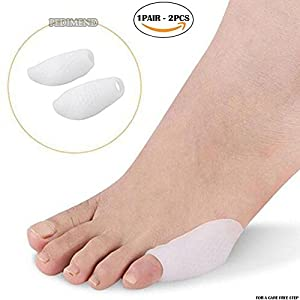PEDIMEND silicone gel tailor's bunion sleeve (1pair) – little finger toe protector – foot care