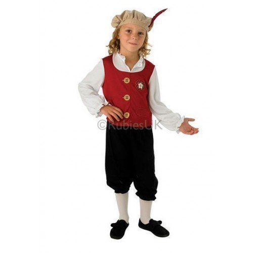 hakespeare historisch büchertag Kostüm Kleid Outfit - Weinrot, Weinrot, 3-4 Years (Tudor Outfits Für Jungen)