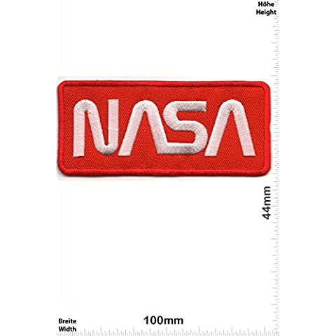 Patch - NASA - red - Space - Space Patch - Space Mission Aeronautical - (Nasa Patch)