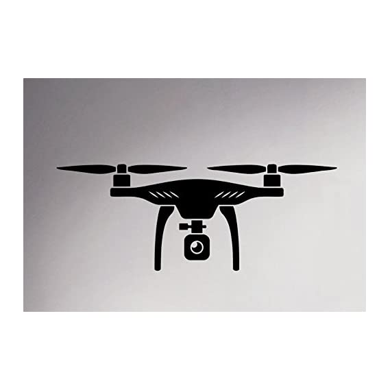 CVANU 1 Pieces Dron Decorative Badroom,Kitchen,Hallroom Wall Stickers Vinyl Decal_CV934(Black)