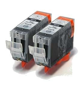 2 Black Compatible Printer Ink Cartridges for Canon BJC 3000