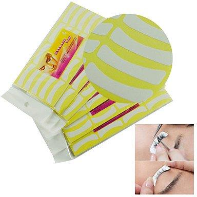GAG-Faux-cils@10pcs blanches adhésives faux cils extensions de cils sans pad Tapis de cils outils bande de maquillage
