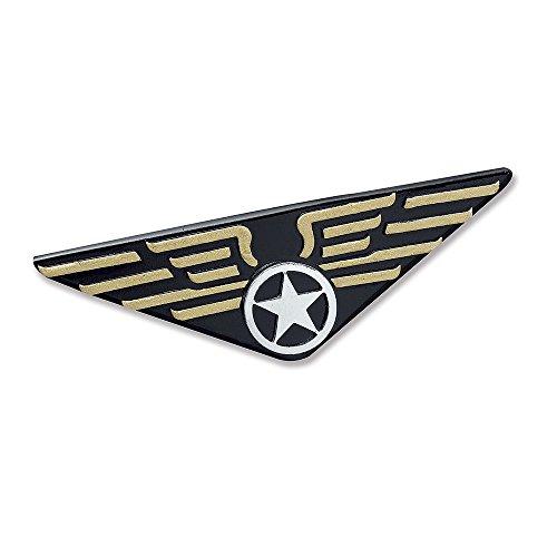 5 Flieger Plakette, Herren, schwarz, Einheitsgröße ()