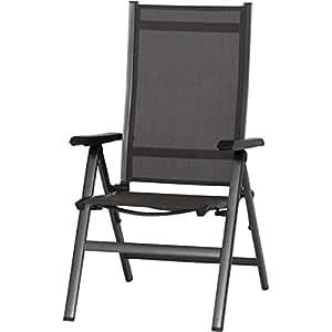 mwh 879308 elements klappsessel anthrazit anthrazit alu gestell textilgewebe. Black Bedroom Furniture Sets. Home Design Ideas